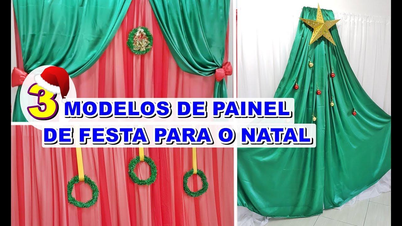 3 modelos de painel de cortina para festa de natal youtube - Modelos de cortinas infantiles ...