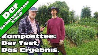 Komposttee im Garten Das Ergebnis