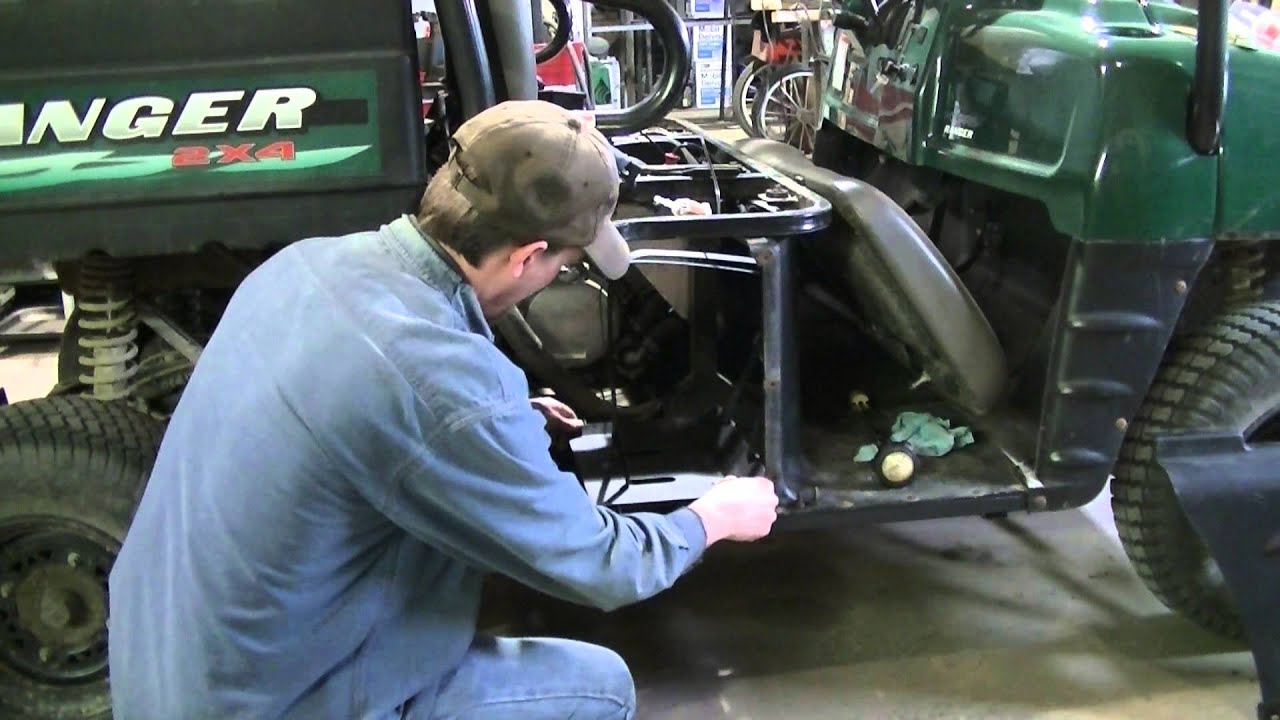 hight resolution of polaris ranger 500 gas tank removal cleaning cutting out problem continues