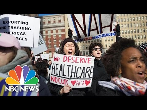 Protesters Fill Philadelphia Streets As President Donald Trump Addresses GOP | NBC News