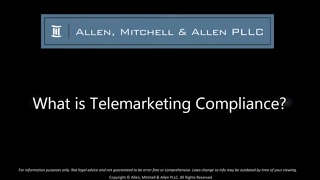 What is Telemarketing Compliance?