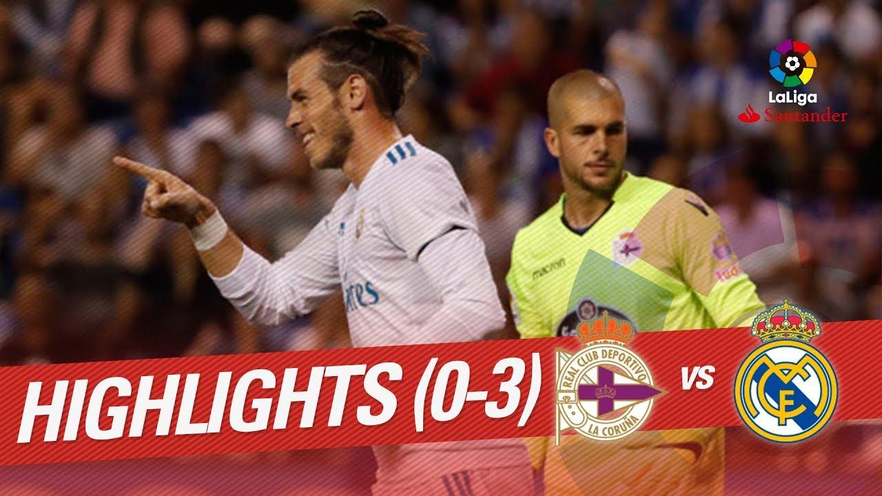 Deportivo La Coruna 0-3 Real Madrid