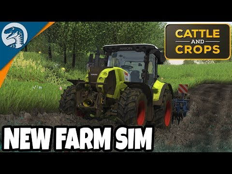TRACTORS IN MUD, NEW FARM SIM, FIRST LOOK | Cattle And Crops Gameplay Part 1
