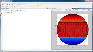 Matlab -  ezsurf - vẽ mặt cầu - Sphere