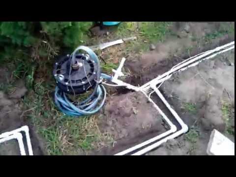Монтаж летнего водопровода от скважины на участке