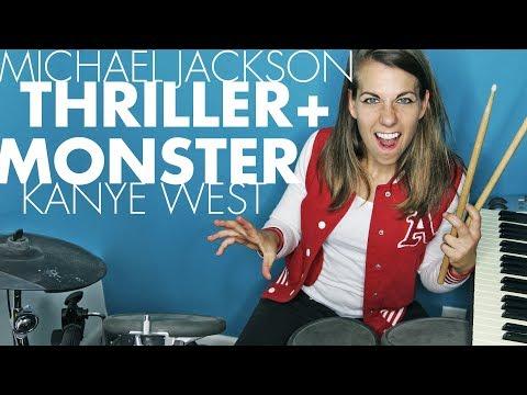 Thriller Michael Jackson + Monster Kanye West  OneGal Band  Ali Spagnola