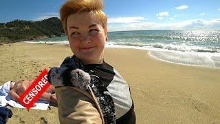 БЕССТЫЖИЕ туристы на пляже Клеопатра Аланья МОРЕ зовет Отдых в Турции в НЕ сезон 2021 Влог