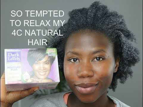 SO TEMPTED TO RELAX MY 4C NATURAL HAIR | AMI FULLEST