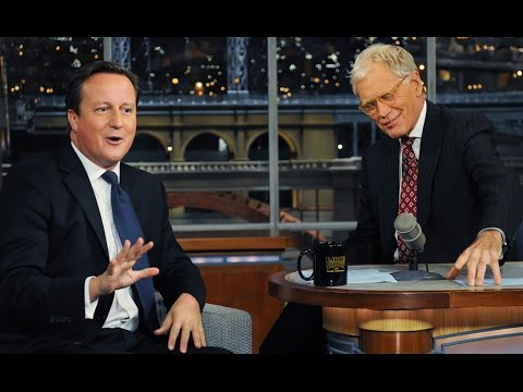 David Letterman with British Pig Fucker DAVID CAMERON