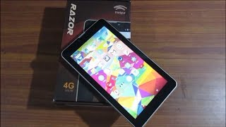 Swipe Razor 4G VoLTE Tablet Unboxing, First Look and Hands on.