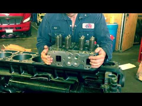 Cummins N14 Engine rebuild - YouTube