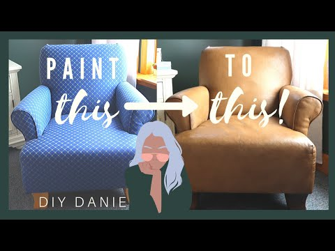 DIY Upcycled Furniture + Decor | DIY Faux Leather Chair Using Paint!?!