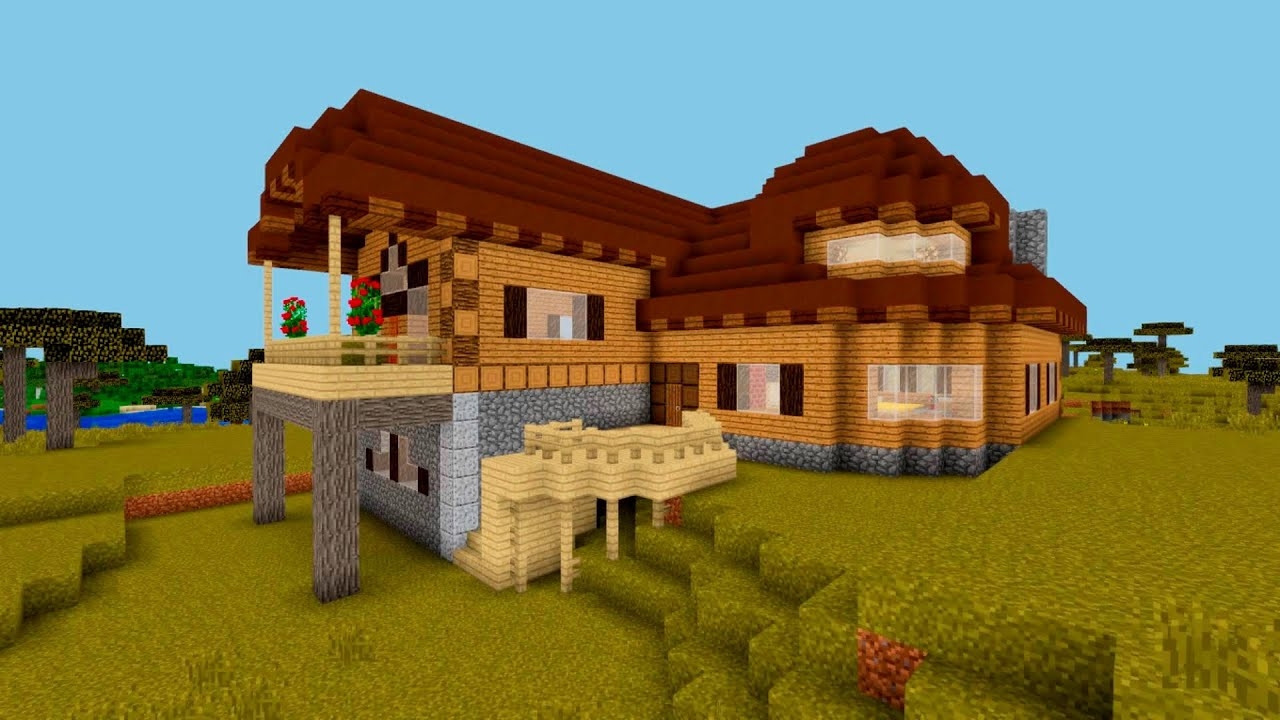 minecraft: how to build a suburban wooden house (wood design ideas