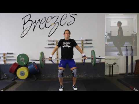 Hang Snatch above Knee's