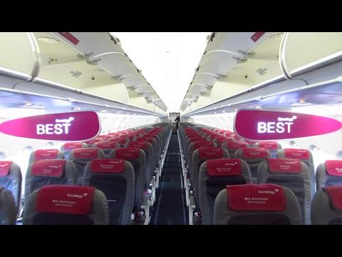 TRIP REPORT | Eurowings | SMART | Berlin Tegel to Düsseldorf | A320 Sharklets [Full HD]