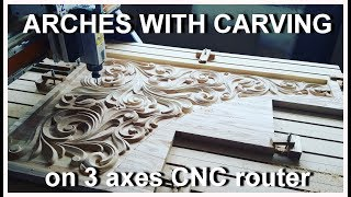 Arches with carving on CNC router. Арки с резьбой на ЧПУ фрезере.
