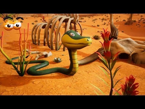 VIDS for KIDS in 3d (HD) - Learn Colors with Desert Snakes - AApV thumbnail