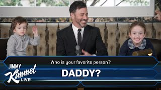 "Jimmy Kimmel Plays ""Who Wants to Be a Millionaire"" with His Kids"