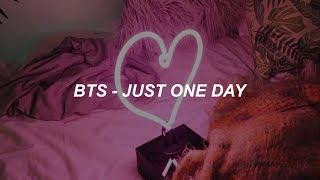 BTS (방탄소년단) '하루만 (Just one day)' Easy Lyrics
