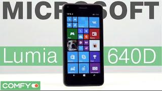 Microsoft Lumia 640 DS - яркий доступный смартфон - Видеодемонстрация от Comfy(Microsoft Lumia 640 DS - смартфон бюджетной ценовой категории с IPS экраном и диагональю 5 дюймов. Пользователю доступн..., 2015-05-10T10:05:20.000Z)
