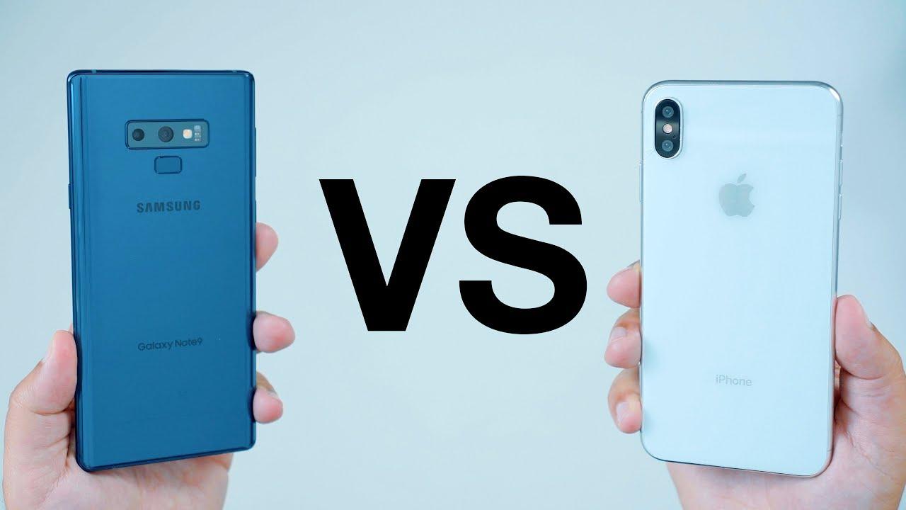 wholesale dealer 91f9b 4b855 Samsung Galaxy Note 9 vs Apple's New 2018 iPhone Lineup