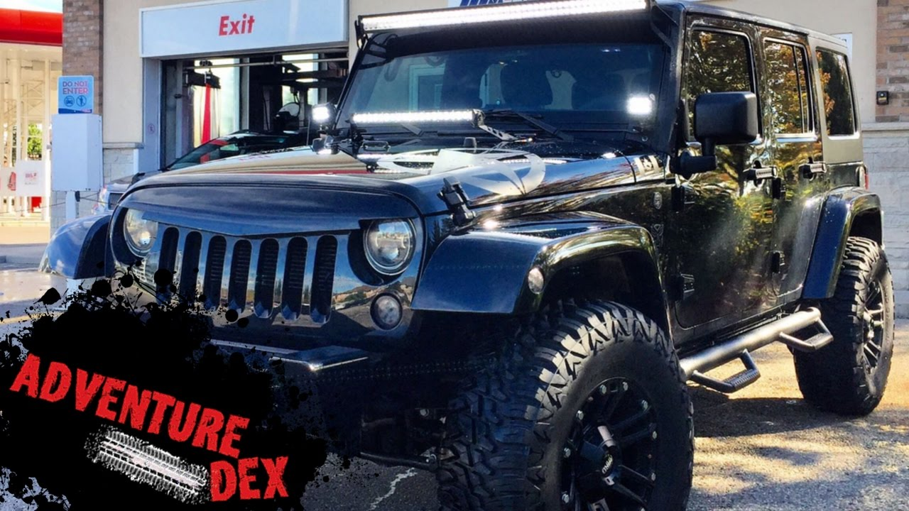 2017 Jeep Wrangler Unlimited CUSTOM BLACKOUT HARDTOP ... |Murdered Out Jeep Wrangler