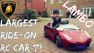 LARGEST RC RIDE ON CAR?! 12V LAMBO