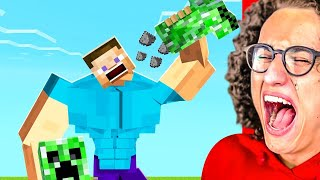 YOU LAUGH = DELETE YOUR MINECRAFT WORLD Challenge!