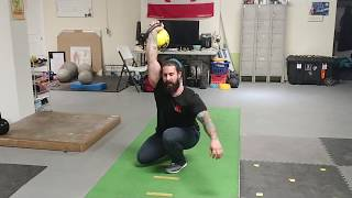 Testing my Hip and Shoulder Mobility with Overhead Kettlebell Crouching Walks -