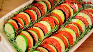 Запеченные овощи  - кабачки, баклажаны, помидоры в духовке рецепт
