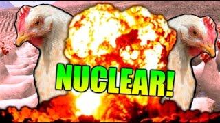 99999 GALLINAS VS BOMBA NUCLEAR !! INCREÍBLE!! SIMULADOR DE BATALLAS EPICAS Makiman