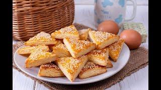 Печенье с плавленым сыром и кунжутом