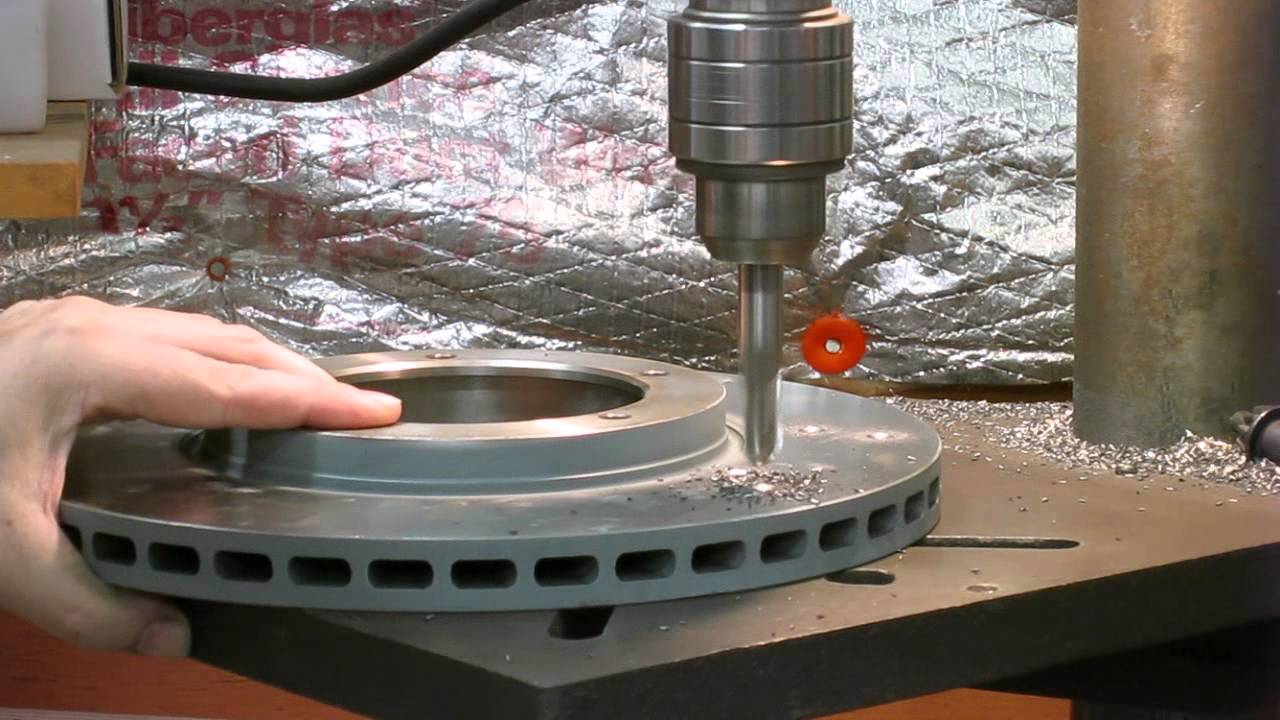 How To Dimple Brake Rotors Youtube