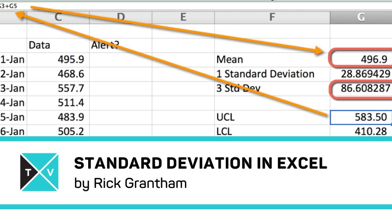 how to create a standard deviation graph in excel
