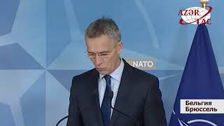 Президент Азербайджана и генеральный секретарь НАТО выступили с заявлениями для печати