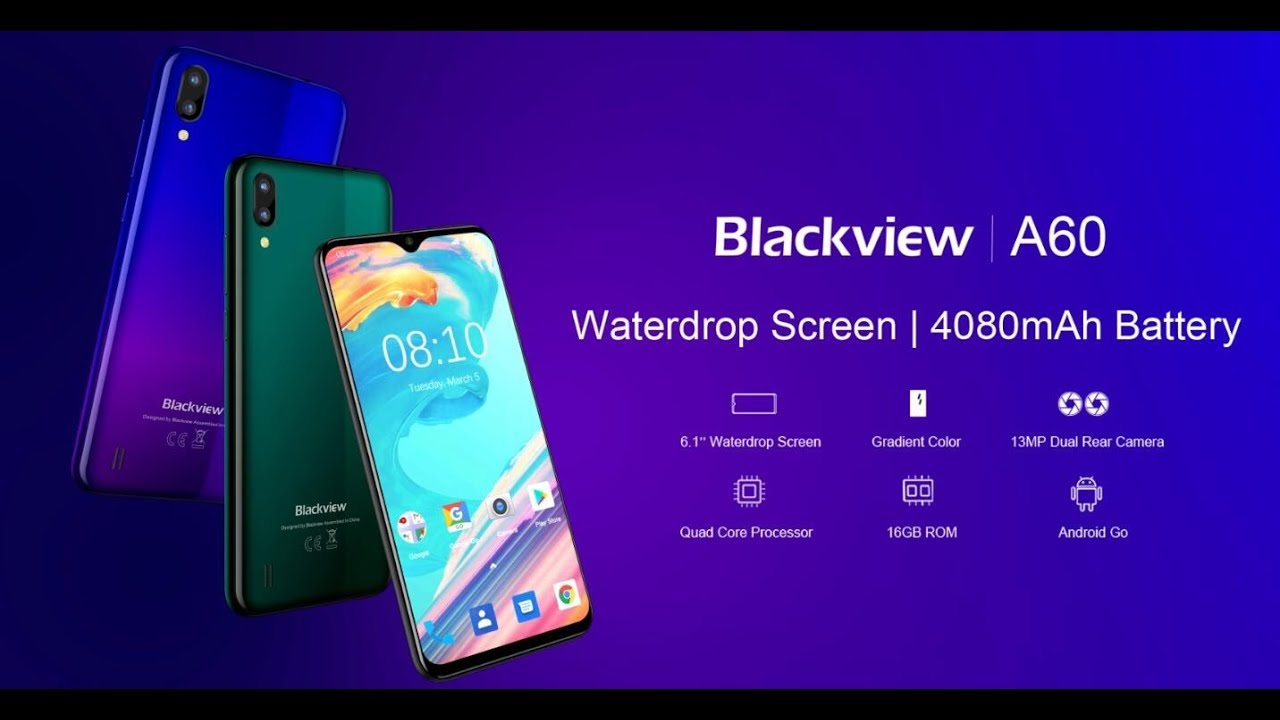 Official 3D graphic video of Blackview A60, waterdrop screen, gradient  color and 4080mAh ALT battery