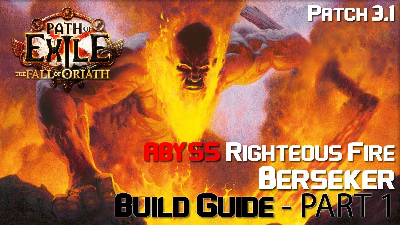 Righteous Fire Build Poe