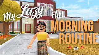 Lazy Fall Morning Routine | Roblox Bloxburg | Sunset Safari