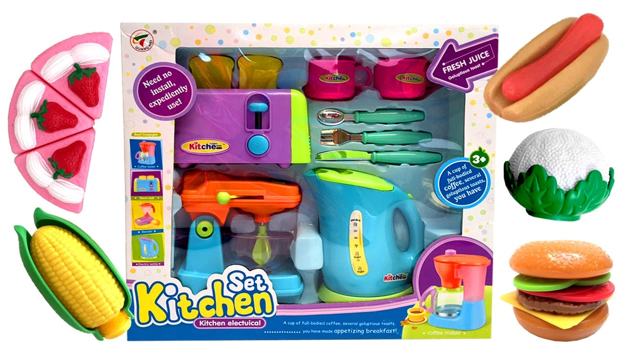 ☆ Cooking Toys For Kids ☆ Toy Kitchen Set Review - YouTube