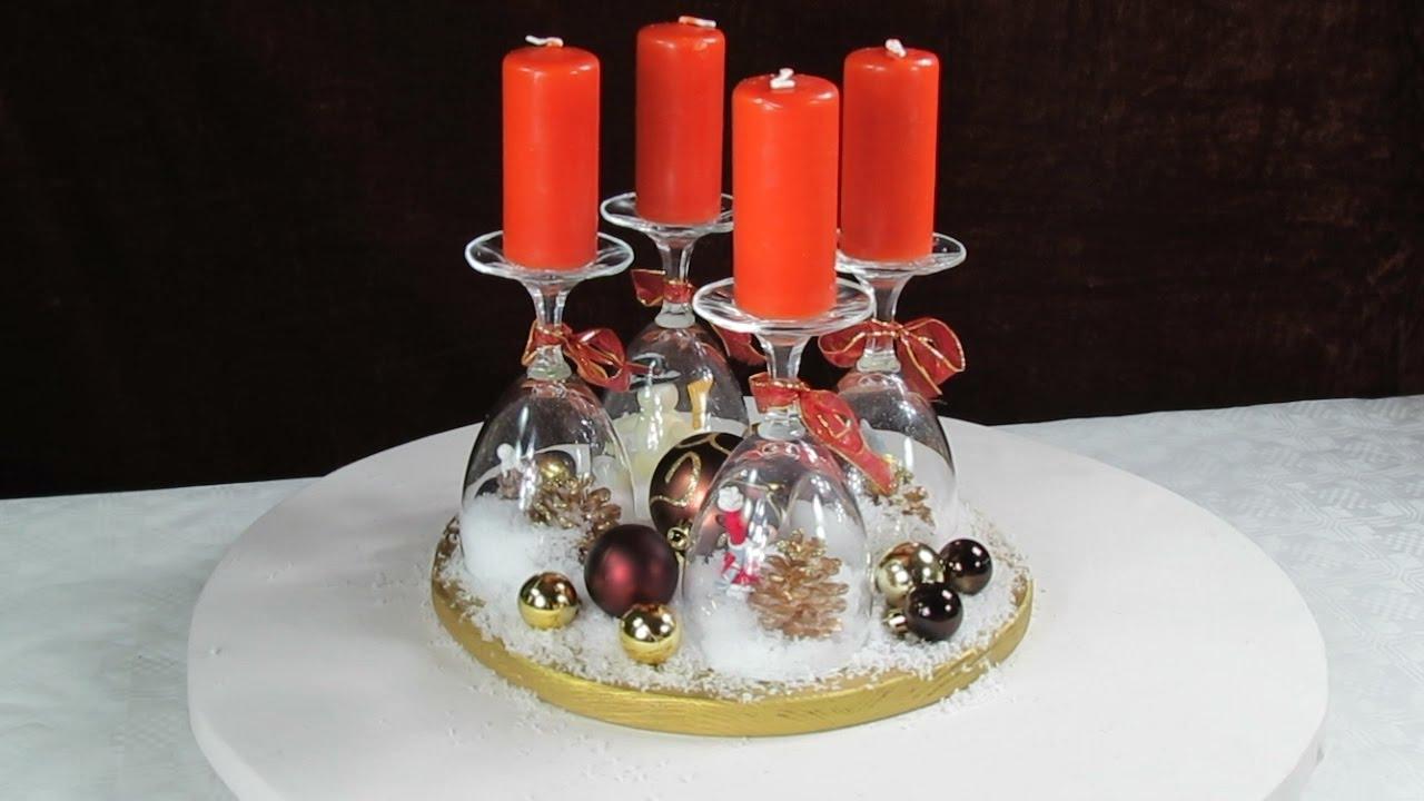 Adventskranz modern mit weinglaser – Europäische Weihnachtstraditionen