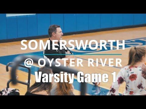 2018 Somersworth High School Volleyball @ Oyster River High School. Varsity Game 1. Durham, Sep 10.