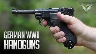 WWII German Handguns: Luger, Walther P38, Vis/Radom, Browning Hi-Power