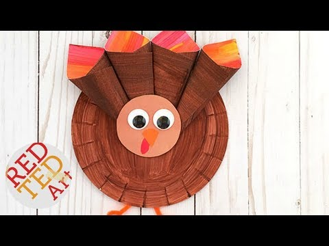 Paper Plate Turkey Craft - Easy Thanksgiving Decor