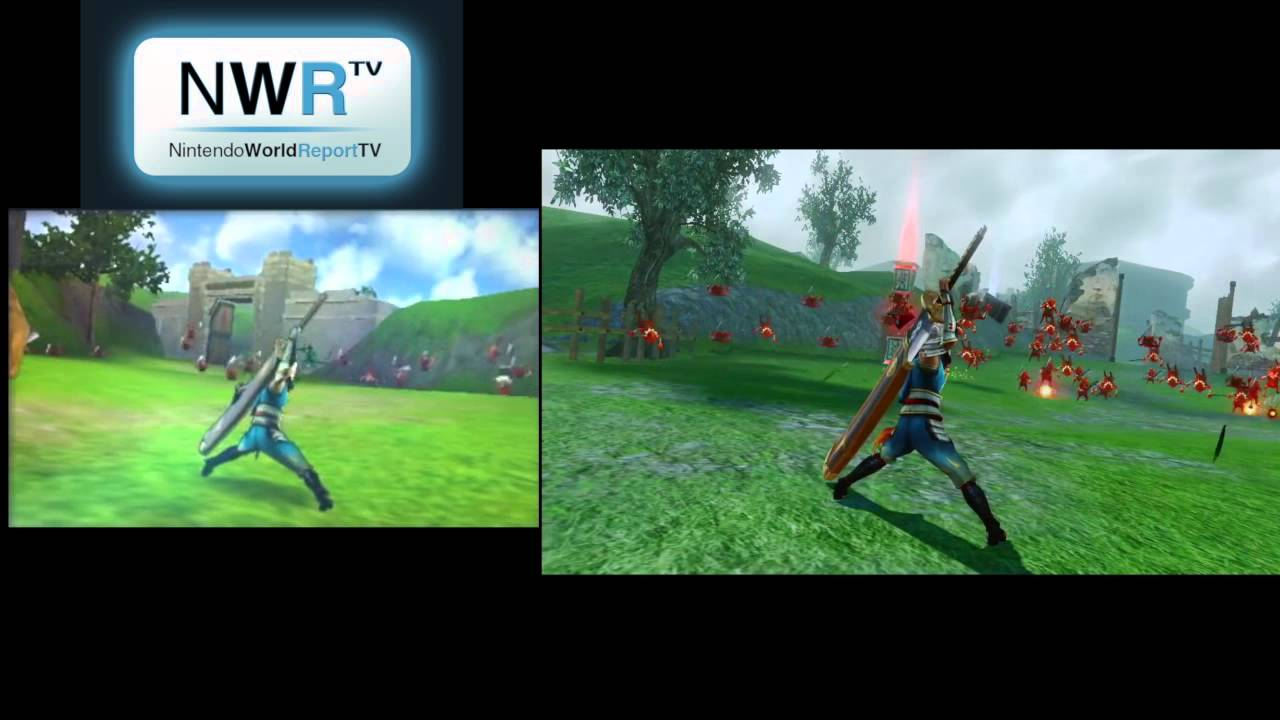 Hyrule Warriors 3ds Vs Wii U Comparison Youtube