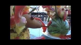 Raw Vegan Thanksgiving, Fruit Turkey!