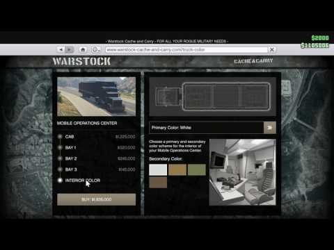 How To: Buy Mobile Operations Center (Large Weapons truck) in GTA: Online Gunrunning update.
