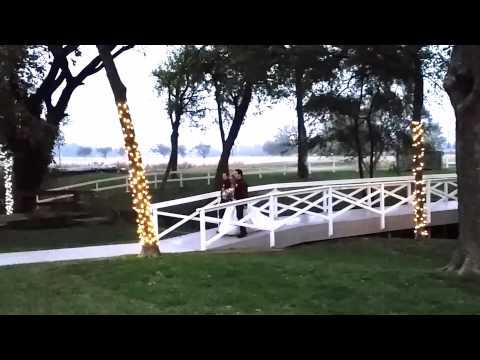 willow-creek-wedding-venue---bride-on-bridge
