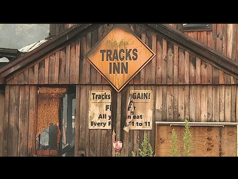 Signs stolen from burned out bar in Mecca Twp.