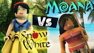 MOANA & SNOW WHITE! HIGH SCHOOL Vs. MIDDLE SCHOOL Dance! Roblox Royale High 👑