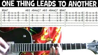 The Fixx One thing leads to another guitar tab lesson
